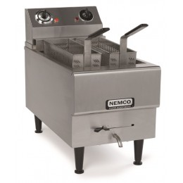 Nemco 6750-240 Single Tank with 2 Twin Baskets, 2.5 Gallon Capacity Countertop Boiling Unit