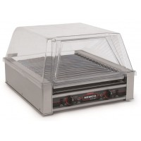 Nemco 8045SXW Wide 45 Hot Dog Roller Grill with Non Slip GripsIt