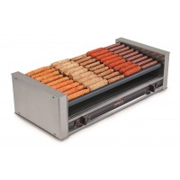 Nemco 8045SXW-SLT-220 Wide Slanted 45 Hot Dog Grill 220V w/ GripsIt