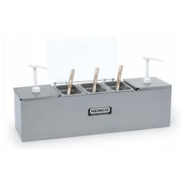 Nemco 88100-CB-1 2-Pan Condiment Bar with 2 Pumps