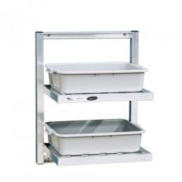 New Age 98213 Two Tier Bus Shelf 48
