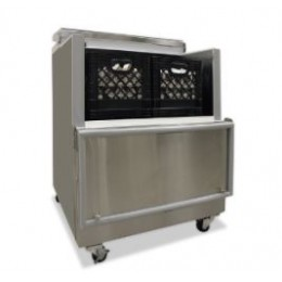Norlake AR082SSS/0-A Cold Wall Open Front Milk Cooler Stainless Steel Exterior 34-5/8