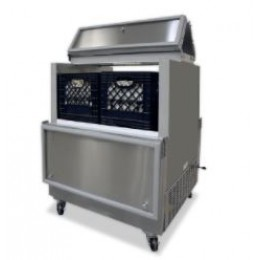 Norlake AR084SSS/0-A Cold Wall Dual Access Milk Cooler Stainless Steel Exterior 34-5/8