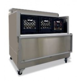 Norlake AR122SSS/0-A Cold Wall Open Front Milk Cooler Stainless Steel 48-5/8