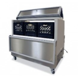 Norlake AR124SSS/0-A Cold Wall Dual Access Milk Cooler Stainless Steel 48-5/8
