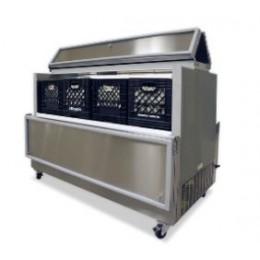 Norlake AR084WVS/0-A Cold Wall Dual Access Milk Cooler White Exterior 34-5/8