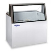 Norlake HF100WWG/0L Low Viewing Angled Glass Dipping Display Freezers 47-3/4
