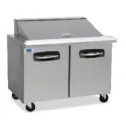 Norlake NLSMP48-18 AdvantEDGE Sandwich Preparation Refrigerators 48-1/8