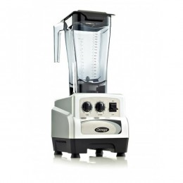 Omega BL480S 64 oz 3 HP Variable Speed Commercial Blender with Timer Sliver