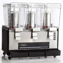 Omega OSD30 Three 3 Gallon Bowls Beverage Dispenser Black 110V