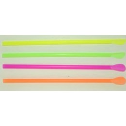 Neon Unwrapped Spoon Straws Assorted Colors 25/400ct