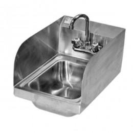 Klinger Stainless Steel Hand Sink Wall Mount w/Splash Guards