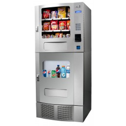 Seaga SM23 Snak Mart Automatic Snack & Drink Combo Vending Machine Silver