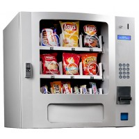 Seaga SM16S Countertop 24 Select Snack Vending Machine with Coin Bill Silver