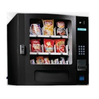 Seaga SM16SB Countertop 24 Select Snack Vending Machine with Coin Bill Credit Card Black