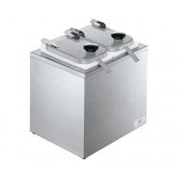 Server Insulated Bar w/ 2 Jars, Hinged Lids, & Ladles