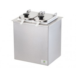 Server Drop-In Insulated Bar w/ 2 Jars, Hinged Lids, & Ladles