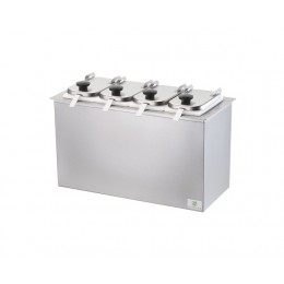 Server Drop-In Insulated Bar w/ 4 Jars, Hinged Lids, & Ladles