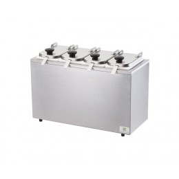Server Non-Insulated Rail w/ Jars, Hinged Lids, and Ladles