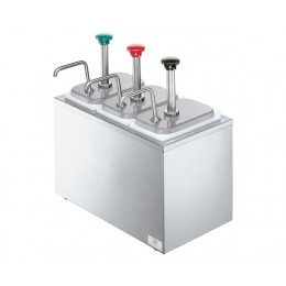 Server 82870 Syrup Rail w/ Three Stainless Steel Pumps