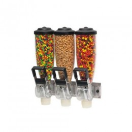 Server 86660 Dry Food Dispenser, Triple 2L Hopper