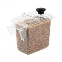 Server Clear 1/9-Size Plastic Jar for a Wall-Mount Bracket