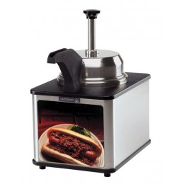 Server Self-Serve Chili Dog Sauce Server Supreme Pump and Spout Warmer