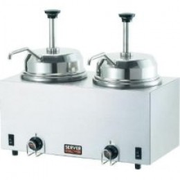 Server 81230 Twin Fudge Hot Topping Food Warmer w/ Pumps