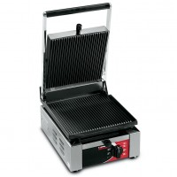 Sirman USA 34A1601105SI Ellio L Paninonstick Panini Grill Grooved Top Flat Bottom with Timer 1500w 120V