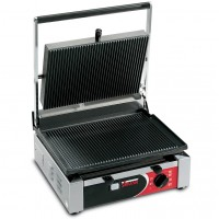 Sirman USA 34A2301105SI Cort R Paninonstick Panini Grill Grooved Top Grooved Bottom with Timer 1500w 120V