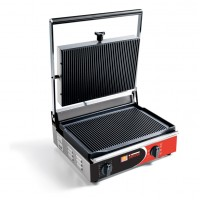 Sirman USA 34A2305105SI Cort R Paninonstick Panini Grill Grooved Top Grooved Bottom with Timer and Removable Plates 2100w 120V