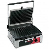 Sirman USA 34A2601105SI Cort L Paninonstick Panini Grill Grooved Top Flat Bottom with Timer 1500w 120V