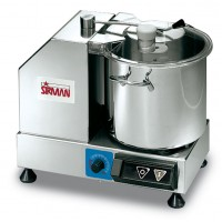Sirman USA 40802218P C9 VV Bowl Cutter/Mixer 9qt Capacity Variable Speed with Removable Bowl 1/2+1/2hp