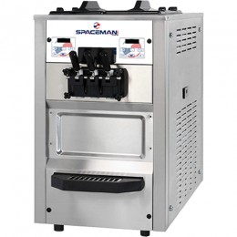 Spaceman 6235AH Soft Serve Counter Machine with Air Pump 2 Hoppers