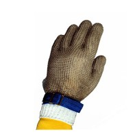 Tomlinson Ambidextrous Full Hand Nylon Closure Metal Mesh Gloves Large