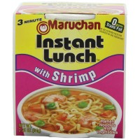 Maruchan Instant Lunch Shrimp Flavor, 2.25 oz Each, 12 Total