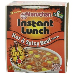 Maruchan Instant Lunch Hot & Spicy Beef, 2.25 oz ea.12 Total
