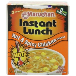 Maruchan Instant Lunch Hot & Spicy Chicken  2.25oz Each 12 Total