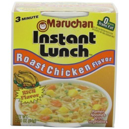 Maruchan 00157 Instant Lunch Roast Chicken Flavor 2.25oz Each 12 Total