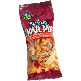 Planters Trail Mix Spicy Cajun Mix, 2 oz Each, 72 Bags Total