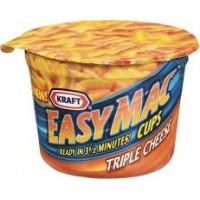 Kraft 00210000163800 Triple Cheese Macaroni Cups, 2.05oz/10 Total