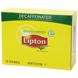 Lipton Decaf Tea Bags, 6 Boxes of 72 Tea Bags, 432 Total