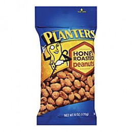 Kraft 00290000125700 Planters Peanuts Honey Roasted RTL 6oz Each Pack, 12 Packs Total