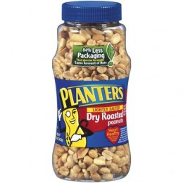 Kraft 00290000125800 Planters Salted Peanuts RTL 6 oz Each Pack, 12 Packs Total