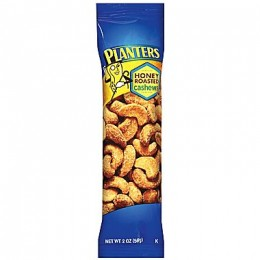 Kraft 00290000164800 Planters Cashews Honey Roasted Tube 2 oz Each Pack, 45 Packs Total
