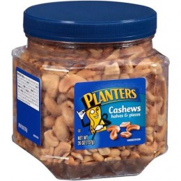 Kraft 00290000185800 Planters Cashew Halves 26oz Each Pack, 6 Packs Total