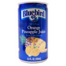 Bluebird 100% Orange-Pineapple Juice, 5.5 oz Each, 48 Cans Total