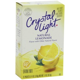 Crystal Light On the Go Lemonade Mix, 4 Boxes of 30 Packets, 120 Total