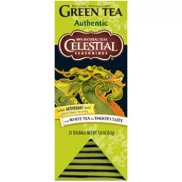 Celestial Seasonings Authentic Green Tea 25 Tea Bags per Pack 6Packs