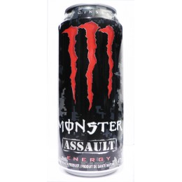 Monster Assault Energy Drink, 16 oz Each, 24 Cans Total